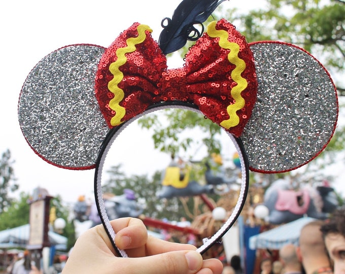 Dumbo Mouse Ears Headband |  Mouse Birthday |Dumbo Headband Ears | Dumbo Mouse Ears| Big Top Mouse Ears | Circus Ears