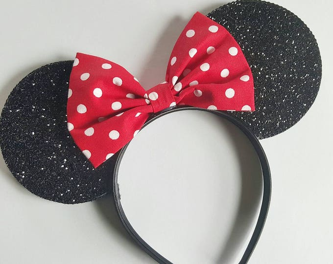 Mouse Ears || Polka Dot Mouse Ears || Polka Dot Mouse Ears || Mouse Ears Headband || Ears || Sparkle Mouse Ears || RTS