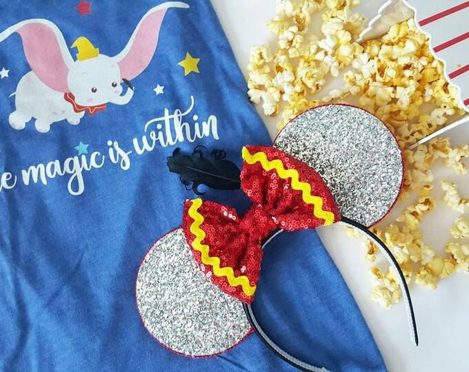 Dumbo Mouse Ears Headband | Mouse Ears | Dumbo Ears | Dumbo Mouse Ears| Big Top Mouse Ears | Circus Ears