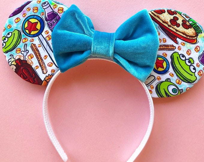 Snack Mouse Ears || Snacks fabric Mouse Ears || pixar snacks || Ready to Ship