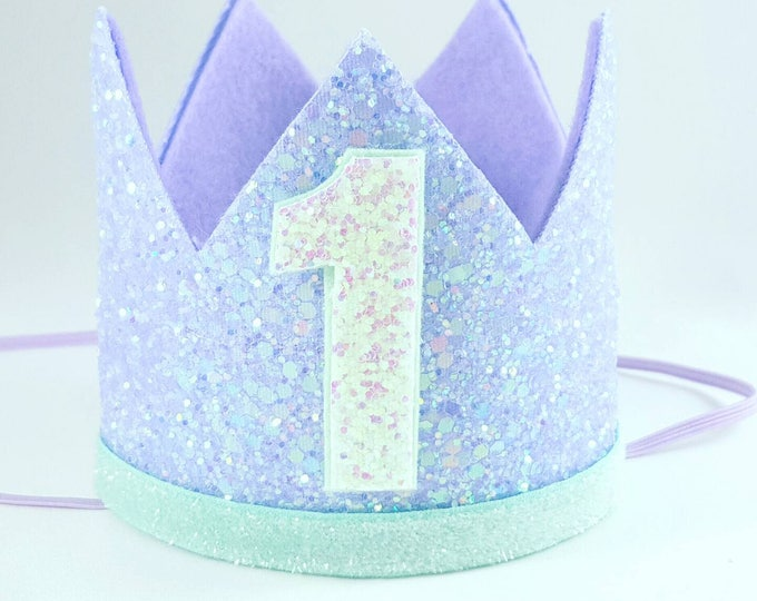 Birthday Crown || Mermaid Theme Birthday || Mermaid || Mermaid Crown || Birthday Girl || First Birthday || Baby Crown || Mermaid Birthday