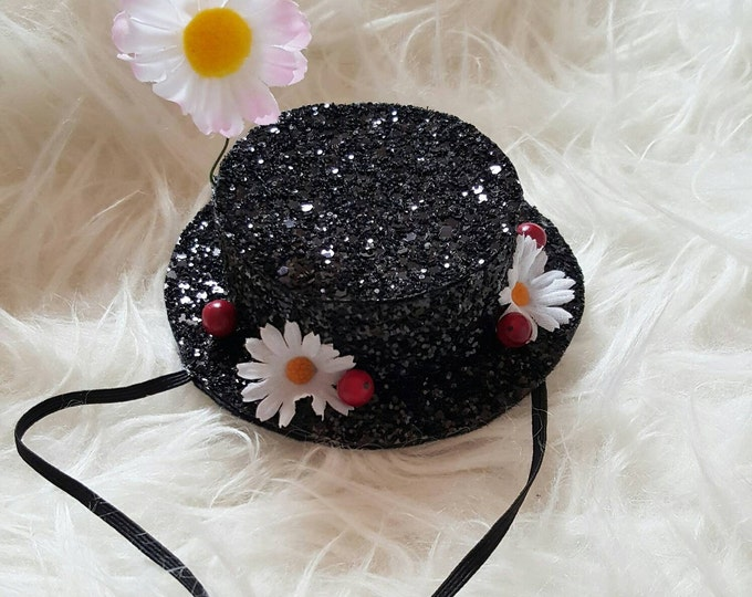 Mary Poppins Inspired Glitter Hat Headband || Mary Poppins Costume || Disney Bound || Poppins
