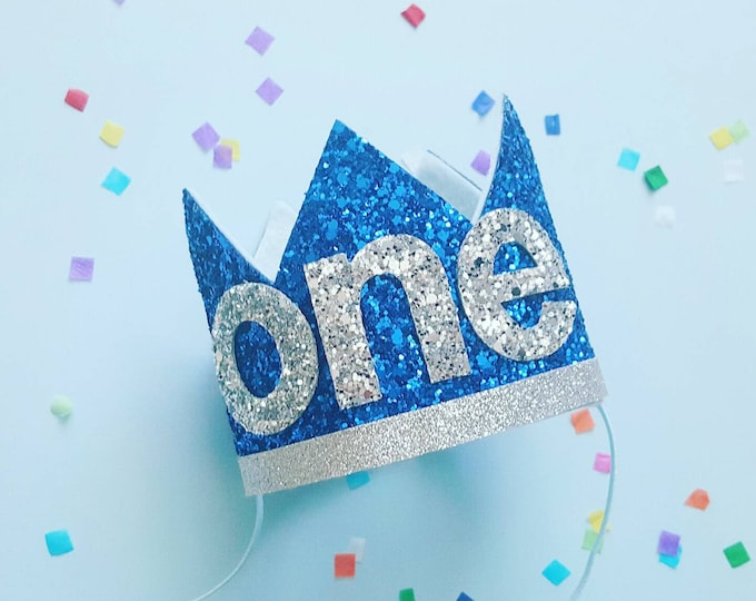 Glittery Birthday Crown | Birthday Crown | 1st Birthday | Birthday | Birthday | Baby Birthday |  Birthday Crown Headband | Ready to  Ship