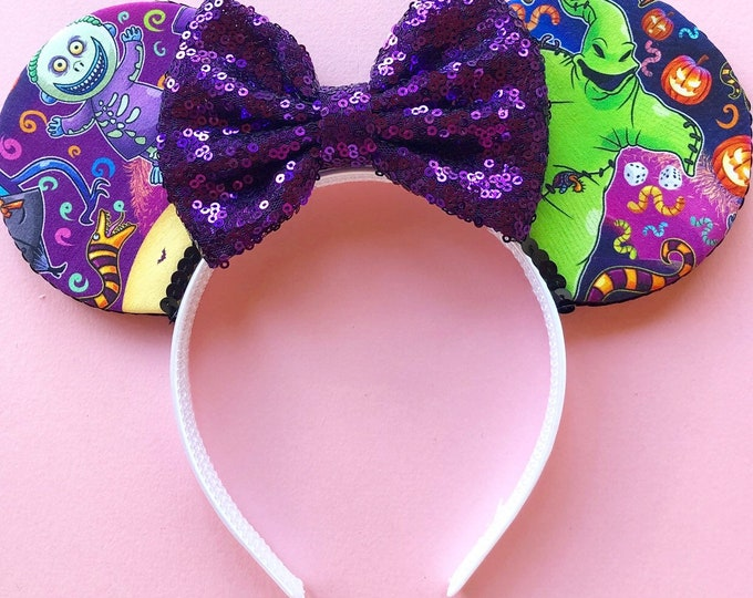 Christmas Snack Mouse Ears    Snacks fabric Mouse Ears    christmas snacks    Ready to Ship