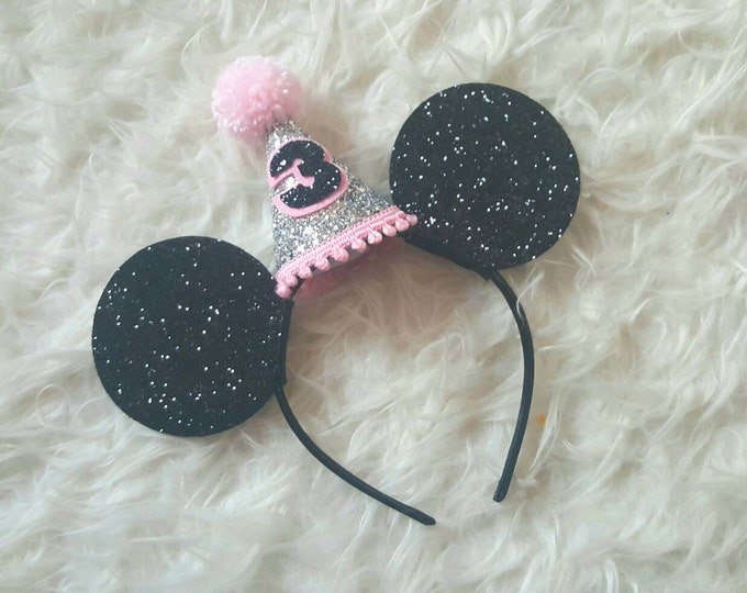 Glittery Mouse Ears Headband | Birthday Ears | Mouse Ear Headband | Ears | Birthday |