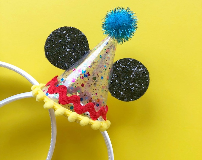 90th BIRTHDAY Mouse Ears Hat | Mickey Birthday | Ears | Mouse Birthday| | Mickey Style | Mouse Birthday