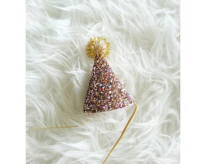 Mini Glittery Birthday Party Hat