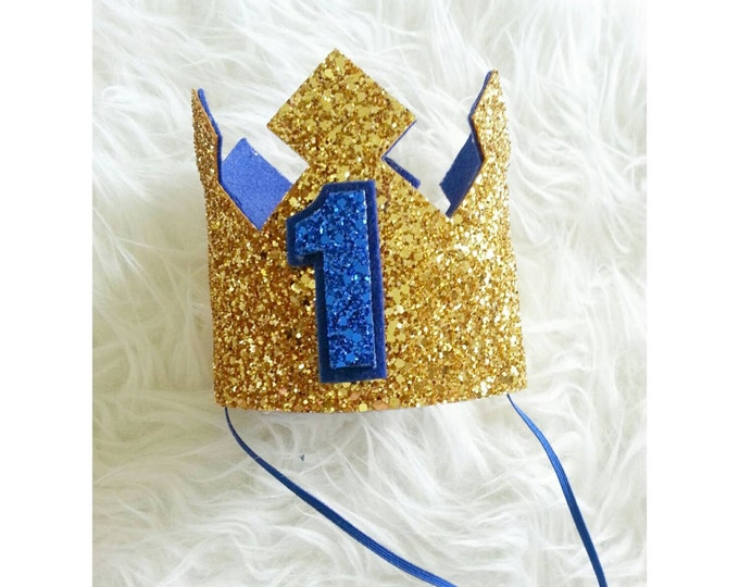 Glittery Birthday Crown  | Birthday Boy Crown | Cake Smash | 1st Birthday |21st Birthday | Birthday | Baby Birthday | Ready to Ship