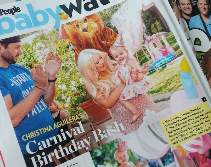 As seen in People Watch Magazine Christine Aquilara Glitter Party Hat