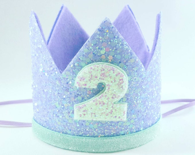 Birthday Crown || Mermaid Theme Birthday || Mermaid || Mermaid Crown || Birthday Girl || 2nd Birthday || 2 Crown || Mermaid Birthday