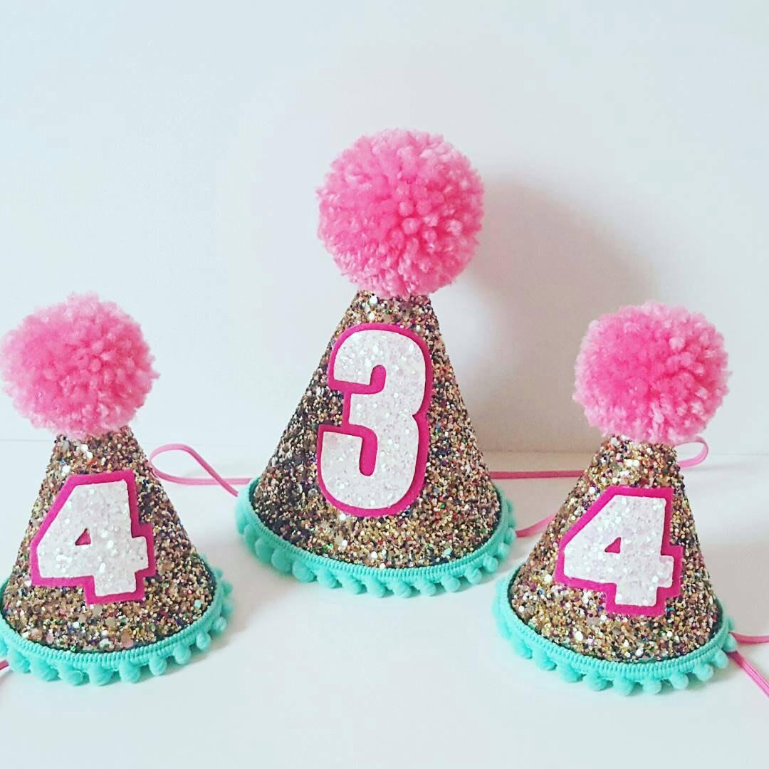Glittery Birthday Hat