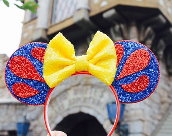 Snow White Mouse Ears Headband | Mouse Ears| Headband Ears | Mouse Ears