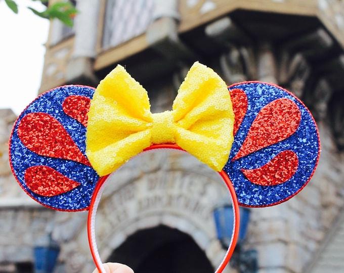 Snow White Mouse Ears Headband | Mouse Ears| Headband Ears | Mouse Ears