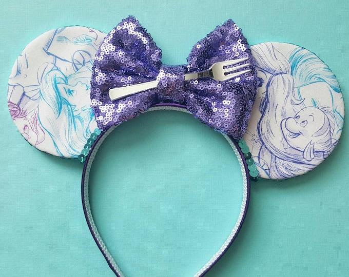 Mermaid Mouse Ears Headband |Mermaid Headband Minnie Ears | Dinglehopper Mouse Ears| Ariel Mouse Ears | Mermaid Ears