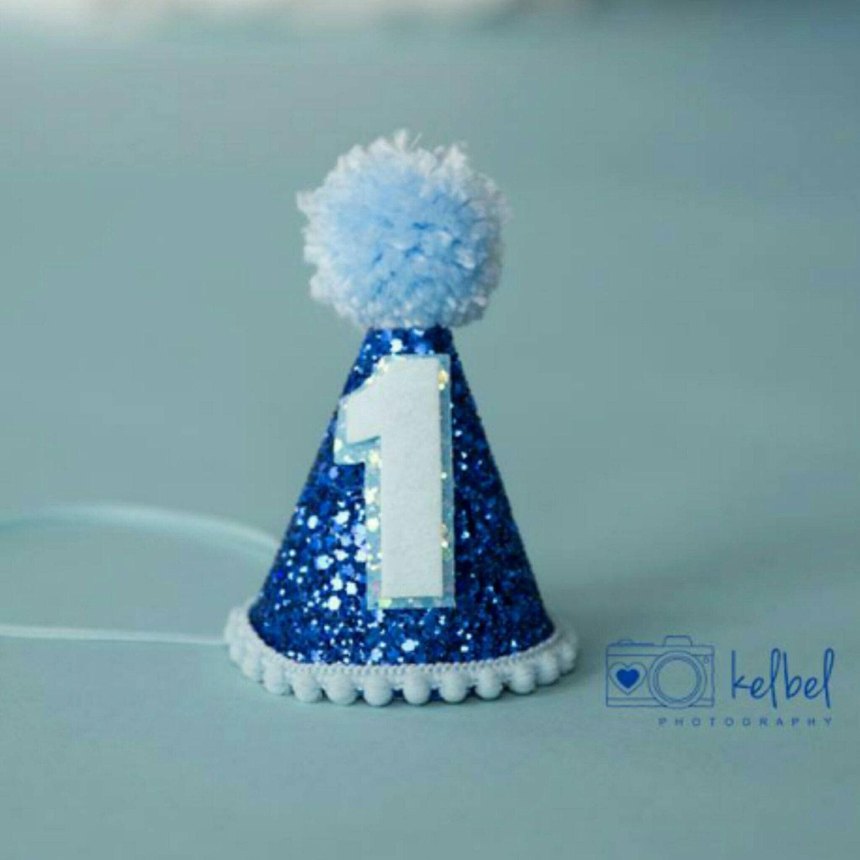 Ready To Ship Mini Glittery Boy Birthday Party Hat