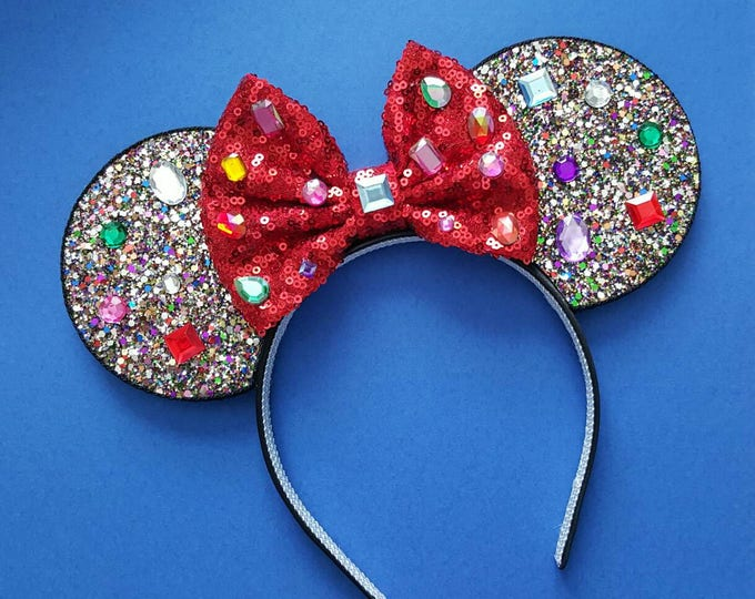 Snow White Mine Train Mouse Ears Headband |Headband Ears | Mouse Ears |
