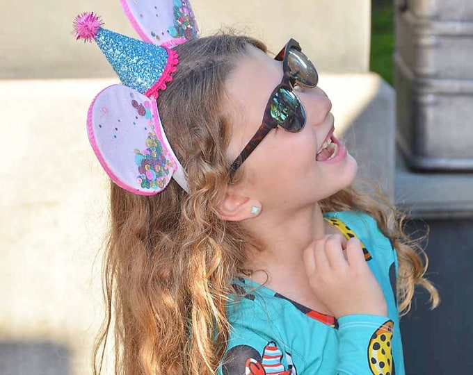 UnBirthday Birthday Mickey Ears || Mouse Ears || Mouse Ears Headband || Mouse Ears || Sparkle Mouse Ears || Confetti Mouse Ears