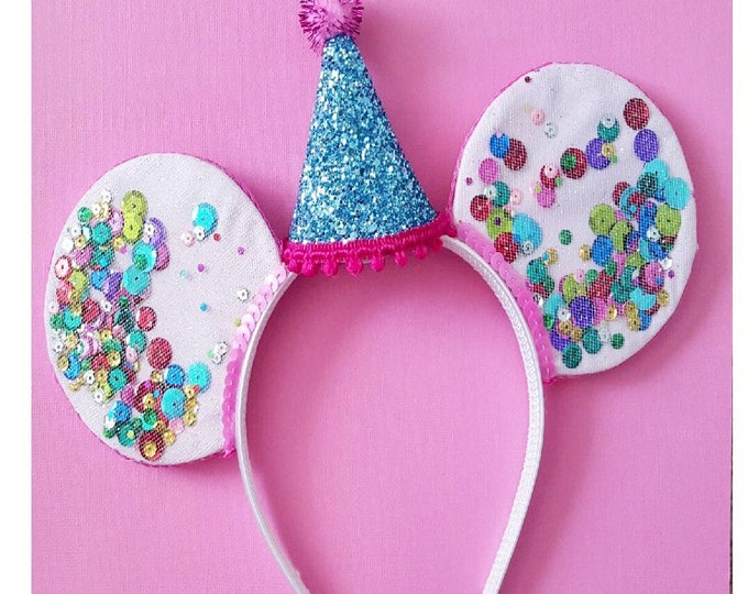 UnBirthday Birthday Mouse Ears || Mouse Ears || Mouse Ears Headban || Mouse Ears || Sparkle Mouse Ears || Confetti Mouse Ears