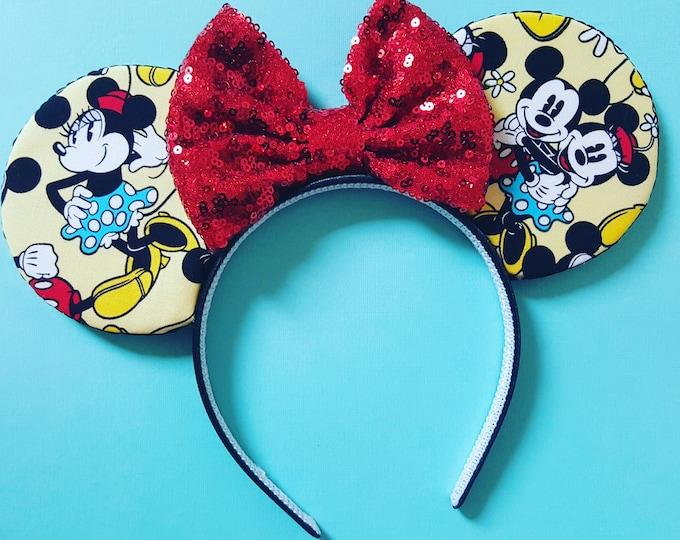 Mouse Ears Classic Mouse || Mouse Ears || Mouse Ears Headband|| Mouse Ears || Sparkle Mouse Ears || RTS