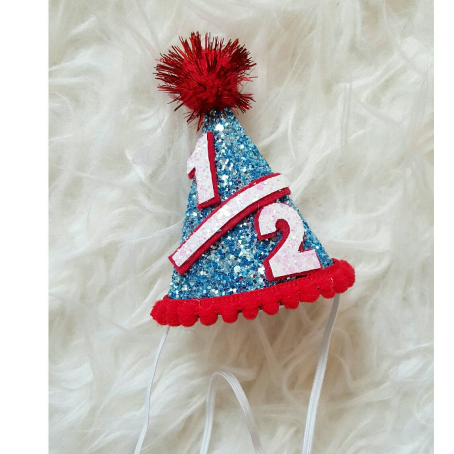 Mini Glittery Dr Suess Inspired Birthday Party Hat