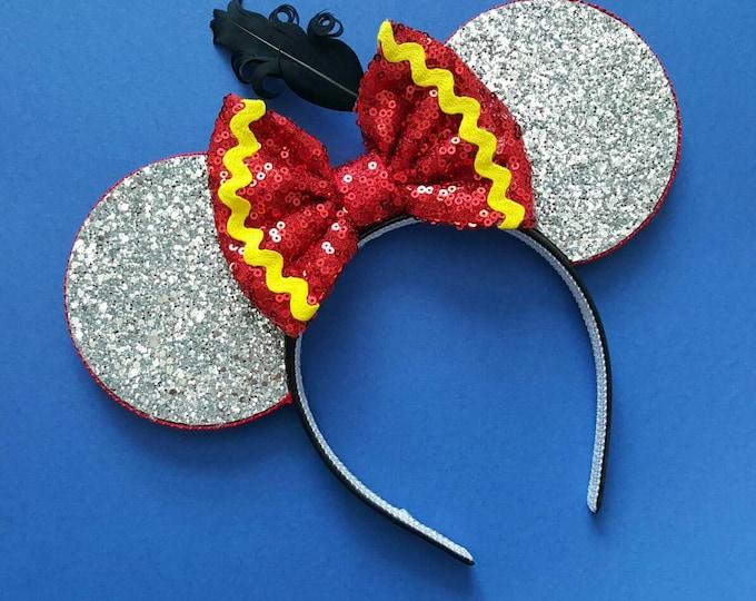 Dumbo Mouse Ears Headband   Mouse Birthday  Dumbo Headban Ears   Dumbo Mouse Ears  Big Top Mouse Ears   Circus Ears