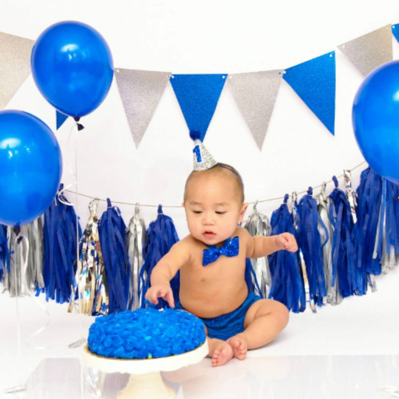 Mini Glittery Birthday Boy Party Hat And Bow Tie SEt