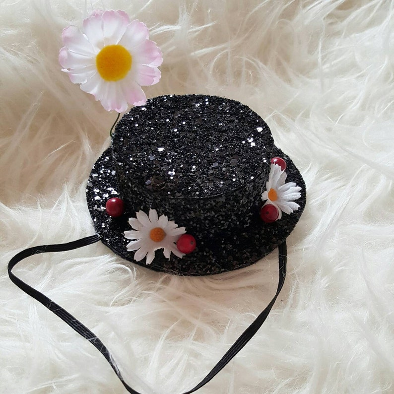 Mary Poppins Inspiriert Glitzer Hut Stirnband Mary Poppins Etsy