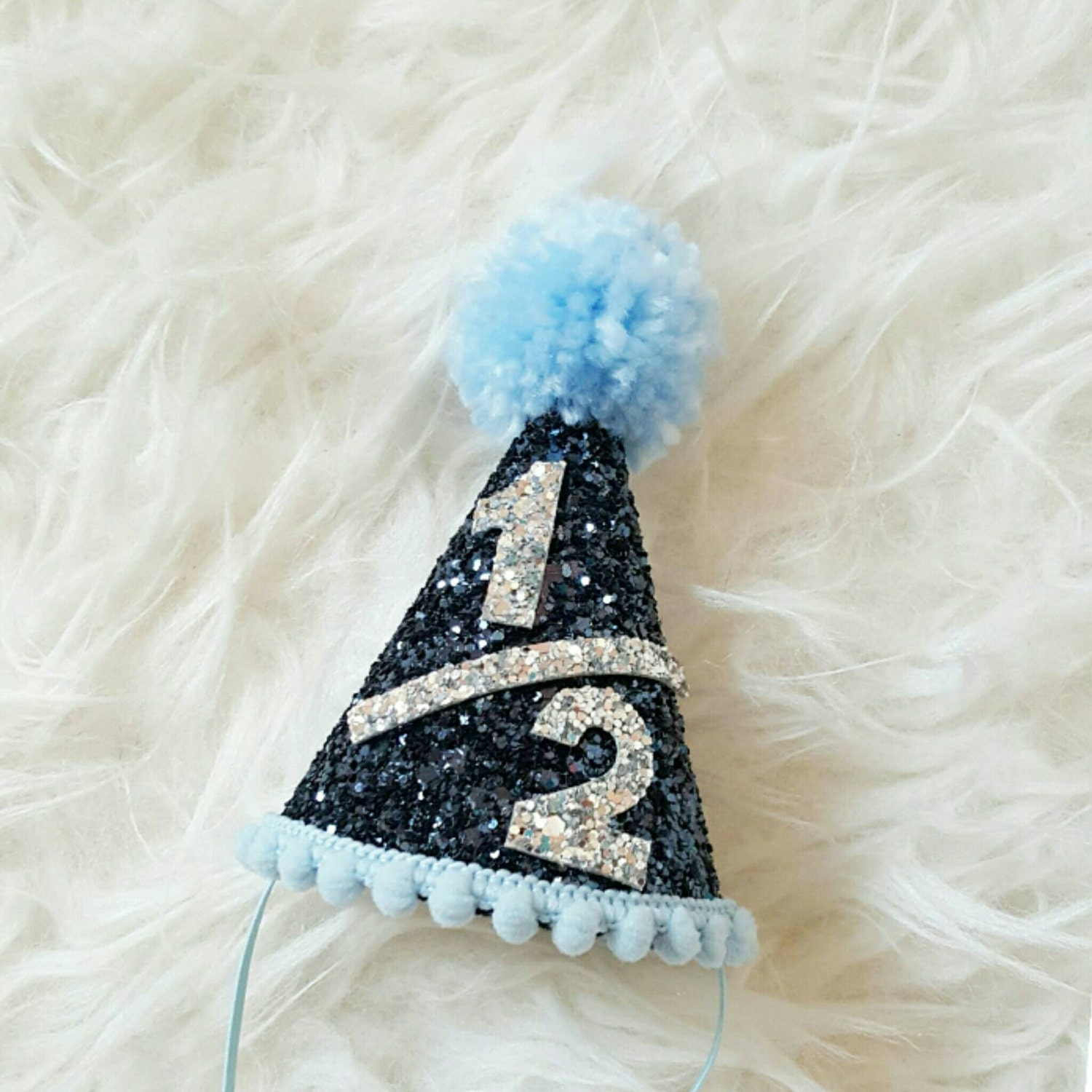 Half Birthday Mini Glittery Party Hat