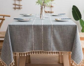 CALITEX Ceramic Rectangular Oilcloth Tablecloth Grey gray 140 x 200 cm PVC PVC