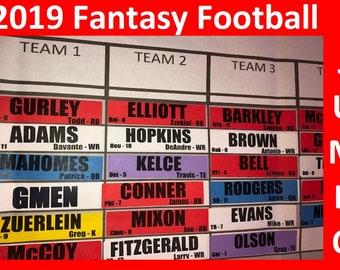 Fantasy football draft board | Etsy