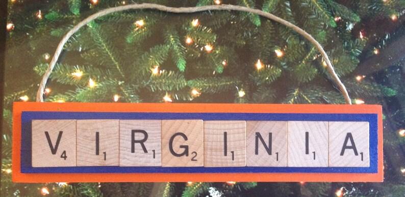 Washington Mystics Christmas Ornament Scrabble Tiles Magnet Rear View Mirror
