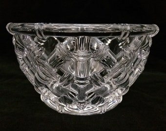 fad900681b06 Tiffany   Company Crystal Bowl Vintage Bamboo Lattice Design 6 1 4