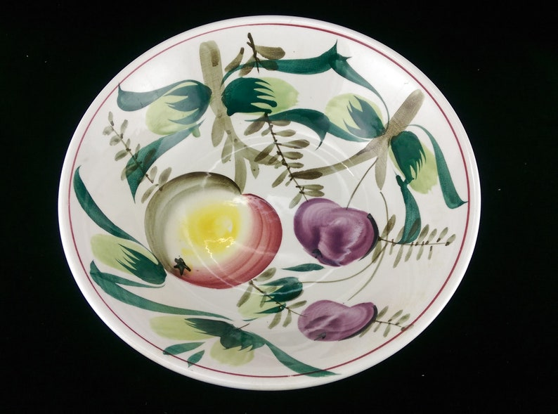 Vintage Ironstone China Oven Proof Hand Painted Serving Bowl with Fruits  Large 1... Vintage Ironstone China Oven Proof Hand Painted Serving Bowl  with Fruits ...