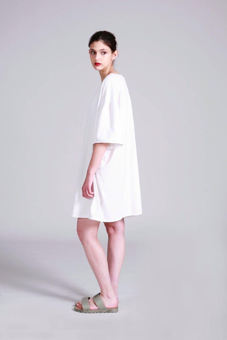 Oversized White T Shirt Dress Cotton Summer Short Dress | Etsy