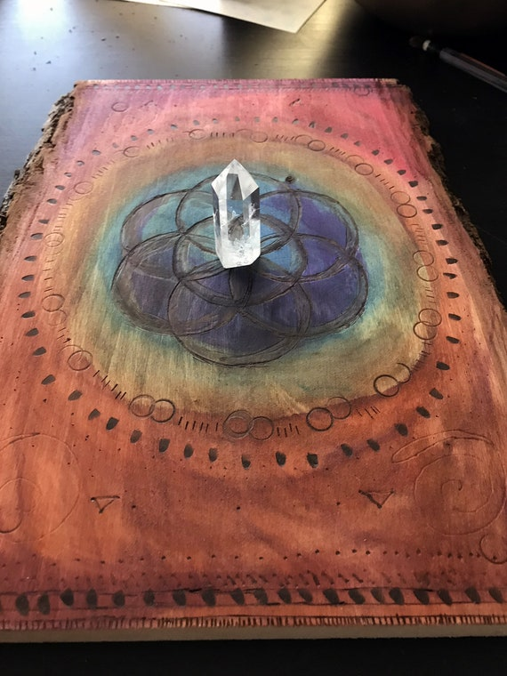 Crystal Grid Board, Flower of Life, Sacred Geometry, Crystal Manifestation, Crystal Energy Board