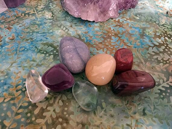 Chakra Stones Set, Chakra Crystals Set, Healing Crystals Set, 7 Chakra Set, Reiki Stones, Spiritual Crystals, Metaphysical Crystals Kit