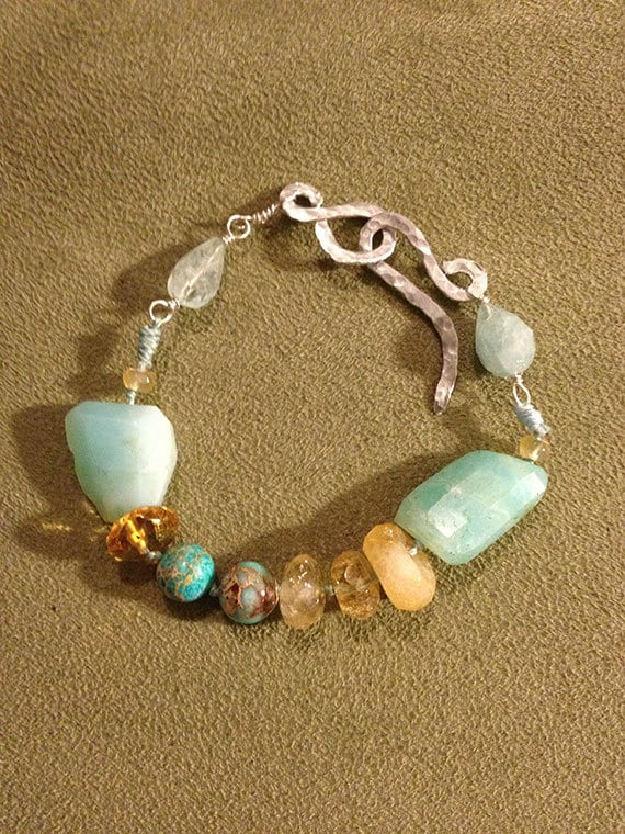 Citrine, Opal, Aquamarine & Turquoise  Bracelet