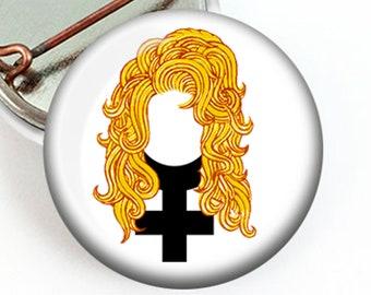 Feminist Dolly Parton Button, Mini Dolly Parton Pin