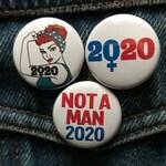 Woman President Button, Vote for Women Pin, Female Symbol Vote for Her Pin, Harris, Warren Button