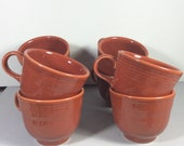 Fiesta Paprika set of 8 coffee cups mint condition