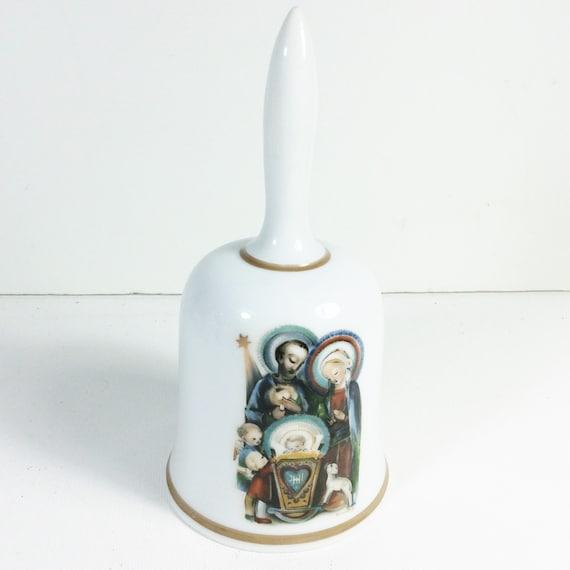 vintage Berta Hummel artwork on porcelain bell West Germany Schmid Bros.