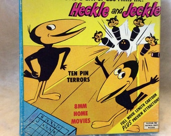 Vintage Heckle and Jeckle 8mm film move Ken Films Terrytoons 1962. Free ship to US.