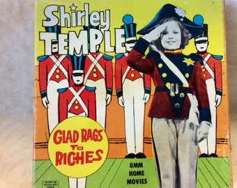 Shirley Temple Glad Rags to Riches 8mm film. Ken Films free shipping to US.