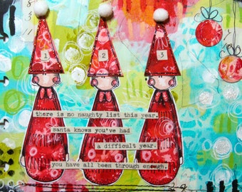 On-line class 6  - Christmas Art Journaling with Kate Crane (recording now available to view)
