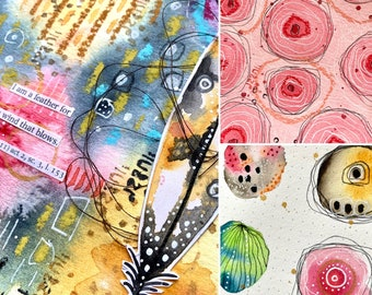 On-line class 9 - Art Journaling - with Kate Crane
