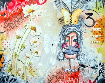 On-line class 7 - Art Journaling - New Year -  with Kate Crane