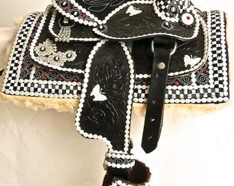 Pony Saddle for Small Child Custom Embellished