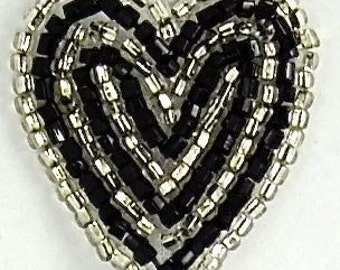 "Sale! Heart Applique, Sequin Beaded, 1.25"" x 1.25""  -17461-0780"