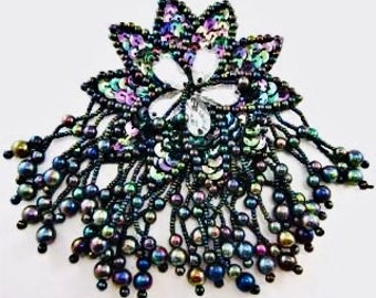 """Epaulet with Moonlite Sequins and Beads 6"""" x 4"""""""
