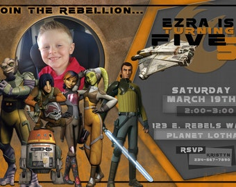 Star Wars Rebels Invitation